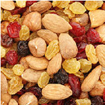 Dried fruits, nuts